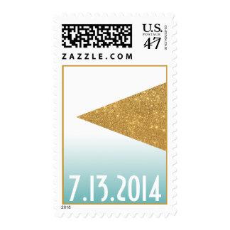 Franqueo geométrico de Ombre del triángulo del oro Sello Postal