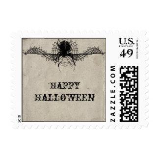 Franqueo gótico elegante de Halloween de la araña