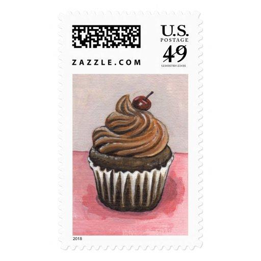 Franqueo (grande) de la magdalena del placer del c timbres postales