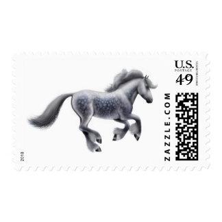Franqueo gris Dappled del caballo de proyecto Sello Postal