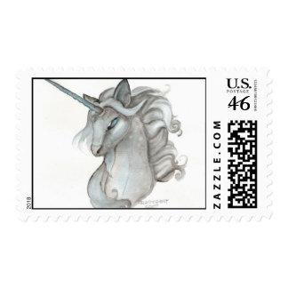 Franqueo gris del unicornio