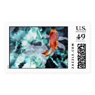 Franqueo hermoso del Goldfish Sellos Postales