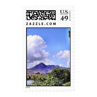 Franqueo inspirado de la montaña sellos postales