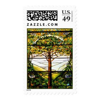 Franqueo inspirado del diseño del árbol frutal sello postal