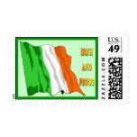 Franqueo irlandés de la bandera del día de St Patr
