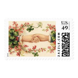 Franqueo irlandés del boda del vintage timbre postal