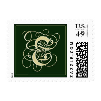 Franqueo irlandés del monograma del verde sellos