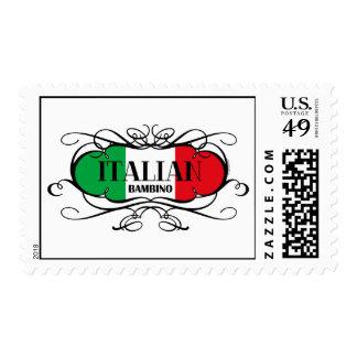 Franqueo italiano del Bambino (c) Timbre Postal