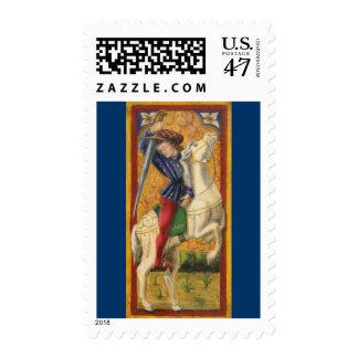 Franqueo italiano del caballero timbre postal