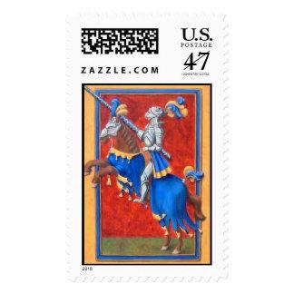 Franqueo Jousting medieval del caballero Sello Postal