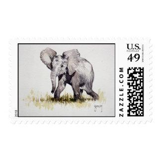 Franqueo joven del elefante