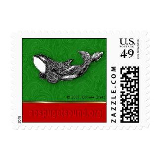 franqueo juguetón del navidad de la orca