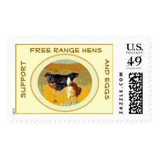 Franqueo libre del collage de las gallinas de la sello