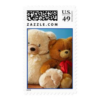 Franqueo lindo de los amigos del oso de peluche