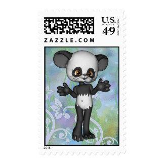 Franqueo lindo del oso de panda de Kawaii