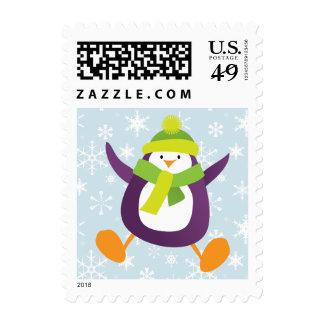 Franqueo lindo el del navidad del pingüino y del