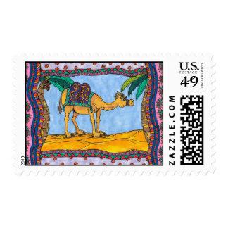 Franqueo loco del camello estampillas