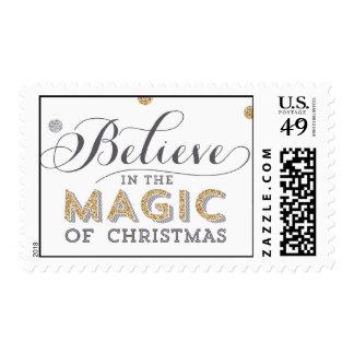Franqueo mágico del día de fiesta del navidad - sello