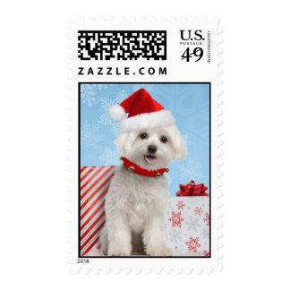 Franqueo maltés del navidad del perrito sellos postales