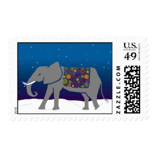 Franqueo maravilloso del día de fiesta del elefant sellos