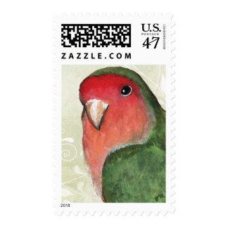 Franqueo medio verde y rosado del retrato el | del sellos
