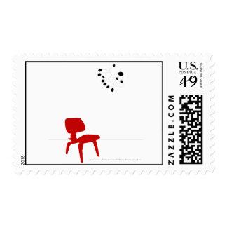 Franqueo moderno rojo de la silla estampillas