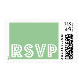 Franqueo moderno simple de RSVP - personalizar