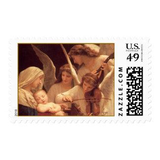 Franqueo musical del navidad de los ángeles sello