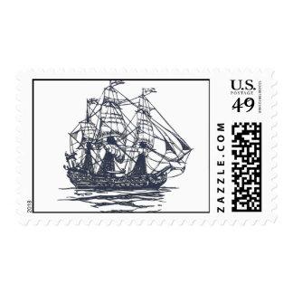 Franqueo náutico de la nave sello