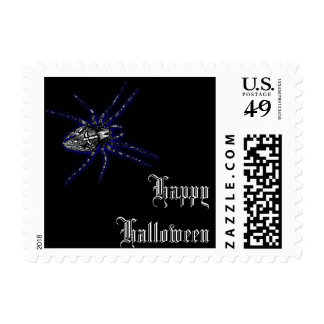 Franqueo negro de Halloween de la araña del Estampillas