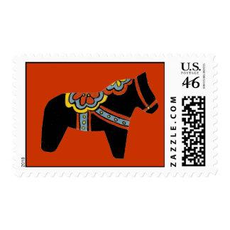 Franqueo negro del caballo de Dala