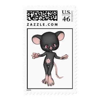 Franqueo negro lindo del ratón
