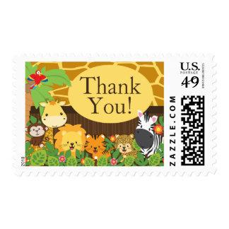 Franqueo neutral animal de la fiesta de bienvenida sello postal