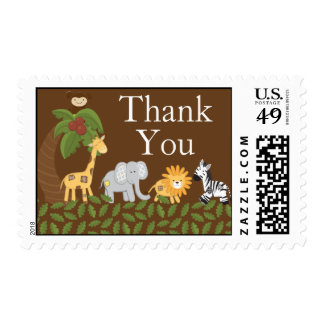 Franqueo neutral animal de la fiesta de bienvenida sellos postales