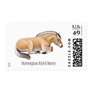 Franqueo noruego del caballo del fiordo sello