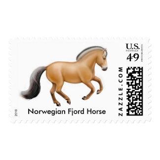 Franqueo noruego del caballo del fiordo sello postal