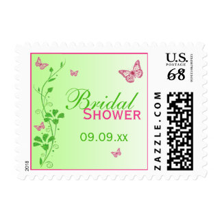 Franqueo nupcial de la ducha de la mariposa floral sello postal