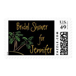 Franqueo nupcial de las palmeras de la ducha timbres postales