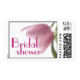 Franqueo nupcial del tulipán del rosa de la ducha