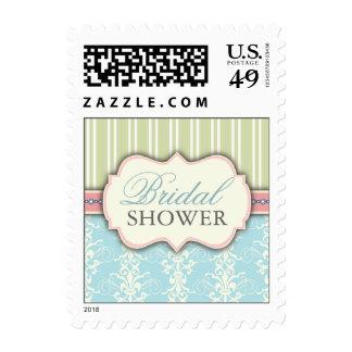 Franqueo nupcial elegante de la ducha del damasco