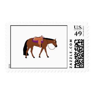 Franqueo occidental del caballo del placer sellos postales