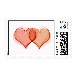 Franqueo para los mensajes el casarse, del comprom timbre postal