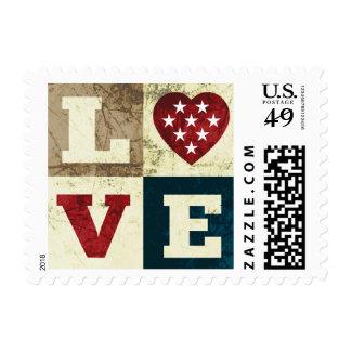 Franqueo patriótico de América del amor
