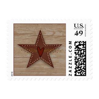 Franqueo perforado de la estrella de la lata sellos postales