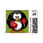 Franqueo, pingüino de la tarjeta del día de San Va