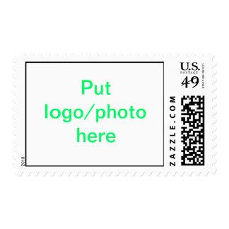 Franqueo - ponga el logotipo/la foto aquí sello