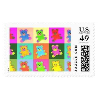 franqueo postal de los sellos de los osos de