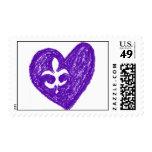 Franqueo Purple Fluer de Lis Love Sello