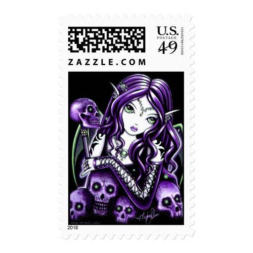 Franqueo púrpura de la hada del cráneo de la bella