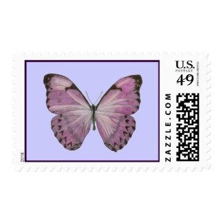 Franqueo púrpura de la mariposa sello